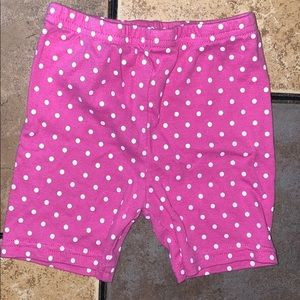 Carter's Biker Shorts pink w/ white dots